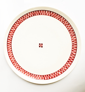 large plate - modranka (red)