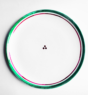 large plate - klasik (red-green)