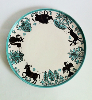 large plate - zver (green)