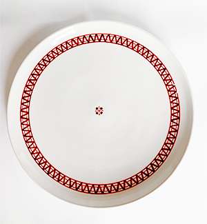 serving plate - modranka (red)