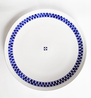 serving plate - modranska (blue)