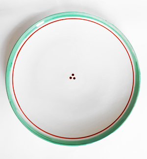serving plate - klasik (red-green)