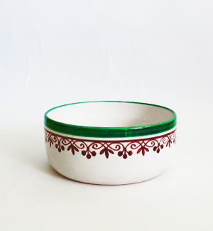 small bowl - klasik (red-green)