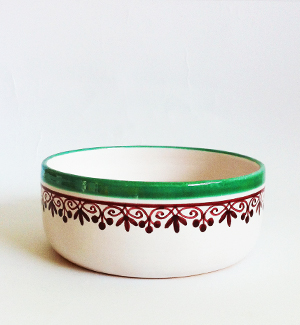 medium bowl - klasik (red-green)