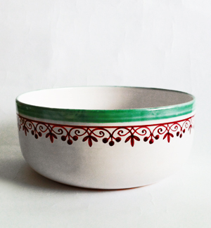 large bowl - klasik (red-green)