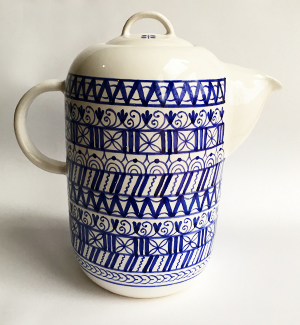 tea pot - modranska (blue)