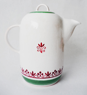 tea pot - klasik (red-green)