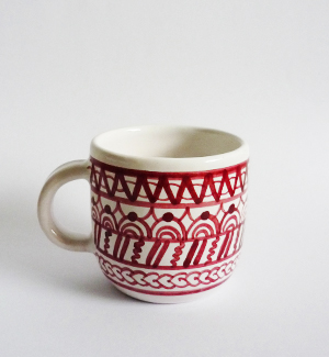 piccolo mug - modranska (red)