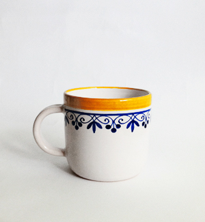 piccolo mug - klasik (blue-yellow)