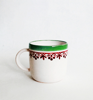 piccolo mug - klasik (red-green)