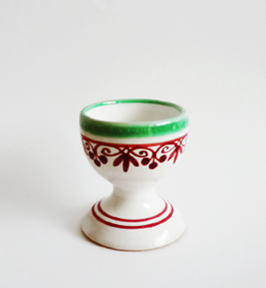 egg cup - klasik (red-green)