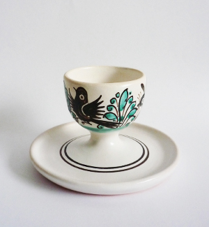 egg cup with saucer - zver (green)