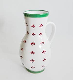 peasant jug - klasik (red-green)