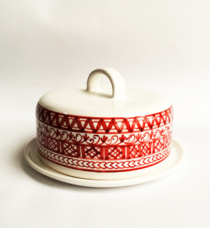 butter dish - modranka (red)