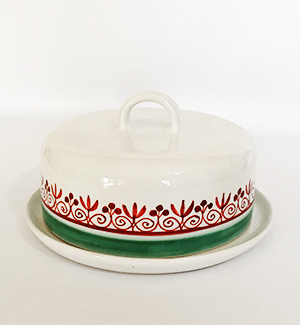 butter dish - klasik (red-green)