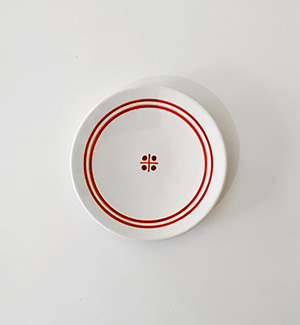 small plate - modranka (red)
