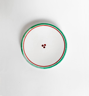 small plate - klasik (red-green)