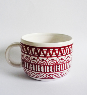 coffee mug - modranska (red)
