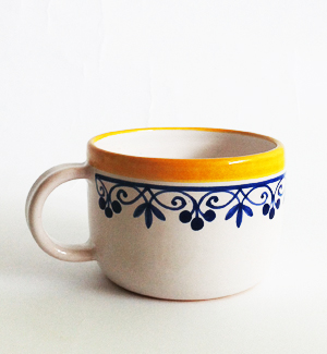 coffee mug - klasik (blue-yellow)