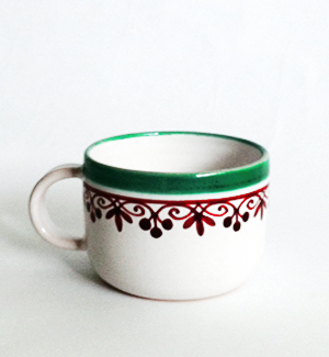 coffee mug - klasik (red-green)