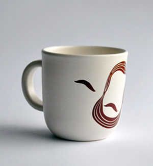 cocoa mug - Ludevít (brown)