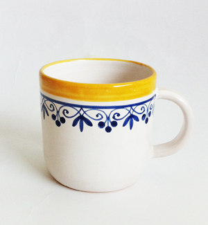 cocoa mug - klasik (blue-yellow)