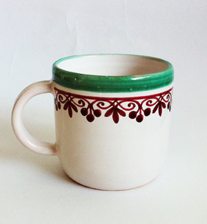 cocoa mug - klasik (red-green)