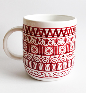giant mug - modranska (red)