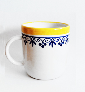 giant mug - klasik (blue-yellow)