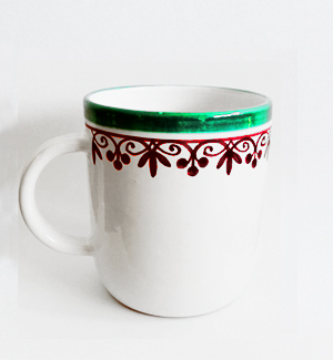 giant mug - klasik (red-green)